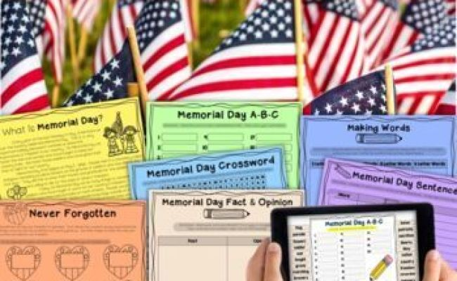 Memorial Day Activities To Help Celebrate In The Classroom