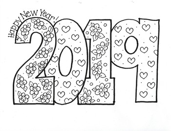 Happy New Year...2019!!! (Flowers and Hearts) by Bunky