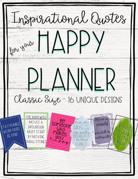 happy planner printables inspirational