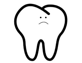 Happy/Sad Teeth Sorting/Collage Template by Ashley Wiseman