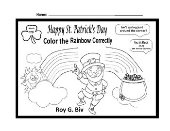 Happy St. Patrick's Day Coloring Page by Scorton Creek