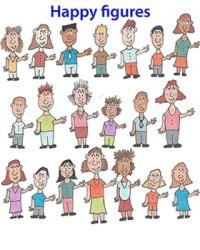happy cartoon clip students teachers subject english arts language