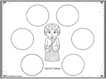 Harriet Tubman Graphic Organizers by Kindergarten Couture