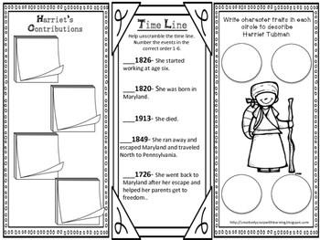 Harriet Tubman Interactive Brochure, Research, Writing