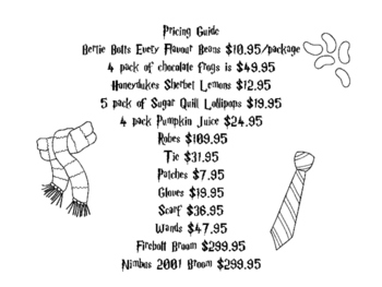Harry Potter Goes Shopping: A Decimal Review Activity by