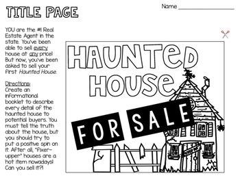 Haunted House for Sale- Descriptive + Persuasive Writing