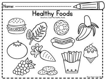 Healthy Food Worksheets & Activities Bilingual by From