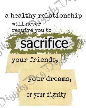 healthy relationship poster bundle of mult formats