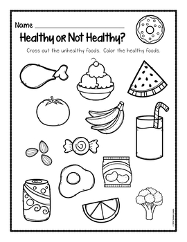 Healthy Foods Posters, Worksheets, and Activities by The