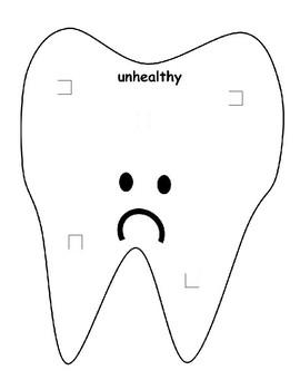 Healthy vs Unhealthy Food Dental Health Sort Precious