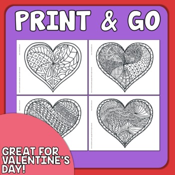 Heart Coloring Pages for Valentine's Day! by Rachel