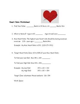 Heart Rate Worksheet : heart, worksheet, Heart, Worksheet, Latitude, Science, Teachers