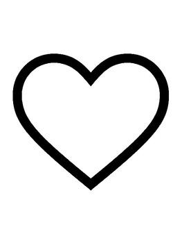 Heart Template for Art Project Heart Outline Heart Sheet