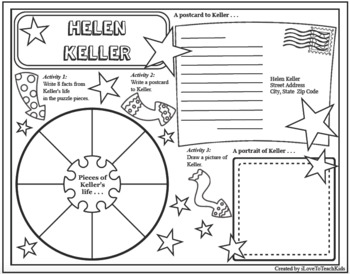 HELEN KELLER Research Project Timeline Poster Poem