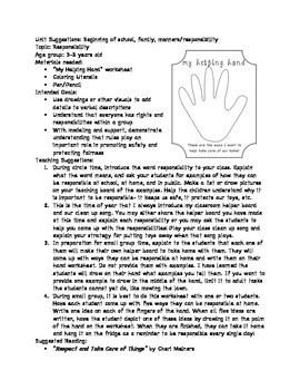 Helping Hand Worksheet