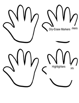 Helping Hands Donation Cut-Outs and Template by 4 All