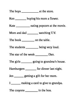 Helping Verbs Was And Were Worksheet By Heather Mccrimmon