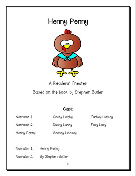 Henny Penny Readers Theater (Fables and Folktales) by 1st