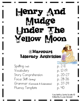 Henry and Mudge Under the Yellow Moon (Harcourt) by Jacobs