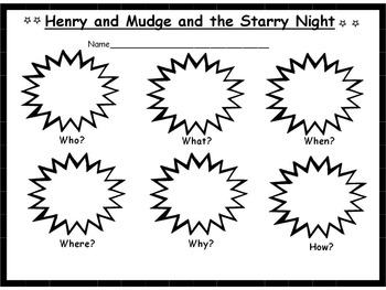 Henry and Mudge and the Starry Night Reader's Response