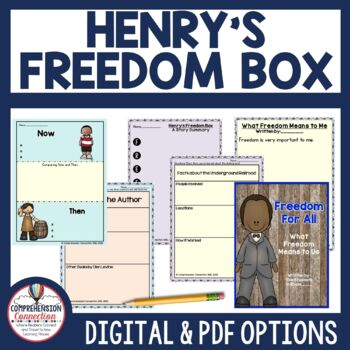 Henry's Freedom Box Book Companion and Lapbook by
