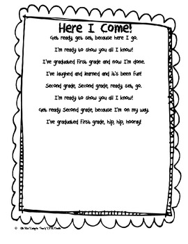 Here I Come First Grade Poem! by Little Miss Kindergarten