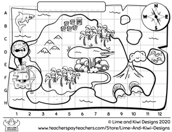 Hidden Pirate Treasure Island FREEBIE Activity Sheet