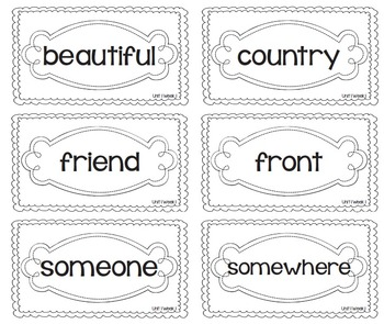 EDITABLE High Frequency Words- Reading Street- 2nd Grade