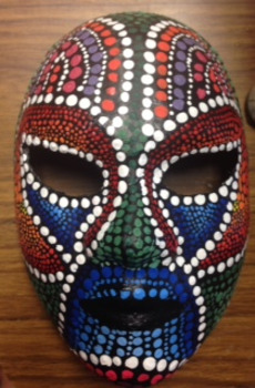 High School Art Aboriginal Mask lesson by High School Visual Arts