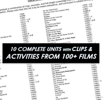 Film Studies: Full Semester HS Course Curriculum