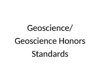 High School Geoscience/Geoscience Honors Common Core