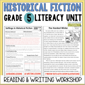 Historical Fiction Reading & Writing Unit Grade 5: 40