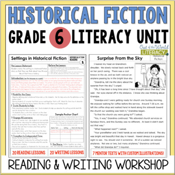 Historical Fiction Reading & Writing Unit Grade 6: 40