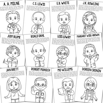 BIOGRAPHY COLORING PAGES, Bundle of 200+ for Easy Crafts