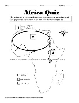Social Studies VA SOL 3.6 a Africa Geography by Loving