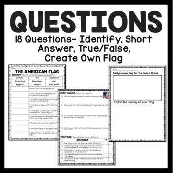 History of the American Flag Reading Comprehension