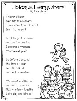 Holidays Around the World Close Read Passages & Poem by