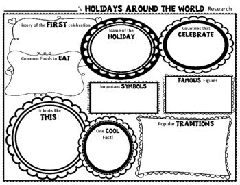 Holidays Around the World Research Activity: Holidays