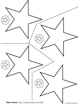 Hollywood Kindergarten Graduation:Clapperboard,Handprint