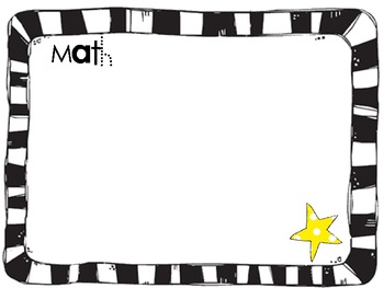 Hollywood/Star Themed Learning Objectives Posters by