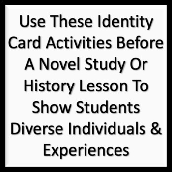 Holocaust Victims Identity Card Activities for ELA