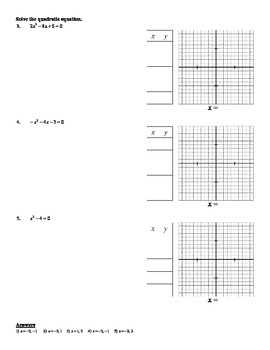 Holt Algebra 9.4 Solving Quadratic Equations by Graphing