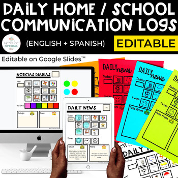 Home/ School Communication Sheets by Simply Special Ed