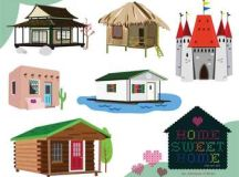 Home Sweet Home / Homes Around the World Clip Art Set | TpT