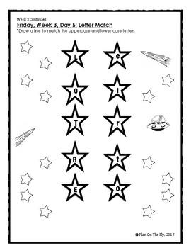 Homework Calendar September for PreK, K, and 1st Grades by