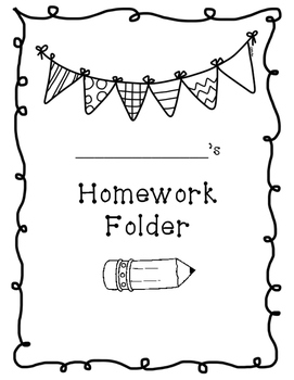 Homework folder cover sheet template