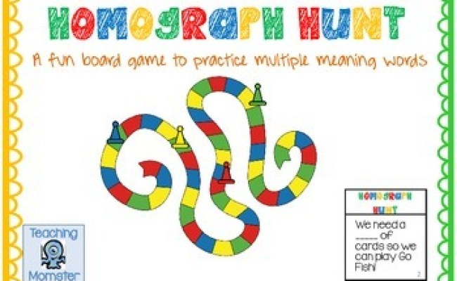 Homograph Game By Krista Mahan Teaching Momster Tpt