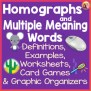 Homographs And Multiple Meaning Words By Nyla S Crafty