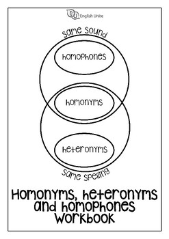 Homonyms, Homophones and Heteronyms Workbook by English