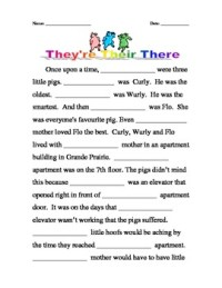 Homophones: Their, There, They're by Kathleen Smith   TpT